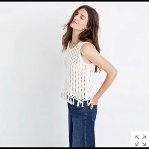 Madewell Fringe Sweater Knit Top - XS